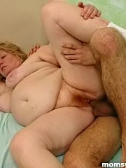 Well-hung lad fucks a fat mature lady for life!