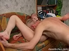 Old timers gets lucky with fucking a beautiful young slut