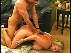Mature blonde getting hard knobbed from behind
