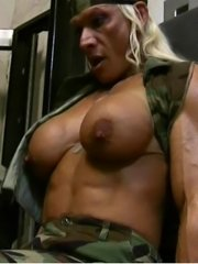 Two busty babes go to work on each other. horny big titted dildo action.!