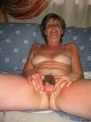 Mature mom spreading her ripe hairy twat and getting fucked raw by some horny ass-lover