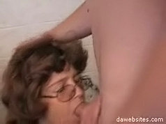 Sexy old chick enjoys being fucked by a horny young stud