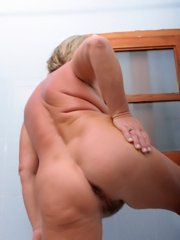 Horny chick showing tits