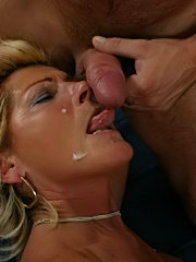 Horny housewife fucking younger wench