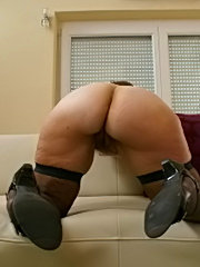 Perfect ass black babe taking black cock in the ass
