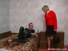 Young fucker gets a wild fuck from his friend's sex-crazed mature mom