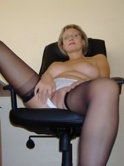 Mature amateurs play with their experienced cunts and take some cock in here & there