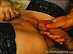 Mature lady enjoying butt licking