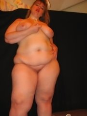 Stacked fatty gives a titty wank