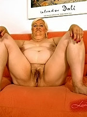 Horny blonde mature fucking with her young lover