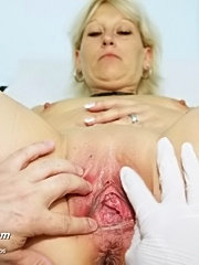Romana mature pussy gyno speculums examination and pussy enema