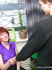 Redhead wife in hard action after a deepthroat with her handsome neighbour