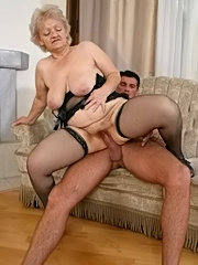 This big titted granny loves to play with a hard cock