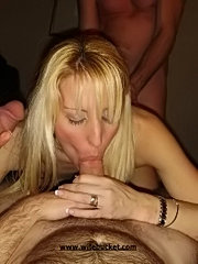 Amateur milfs from around give blowjobs