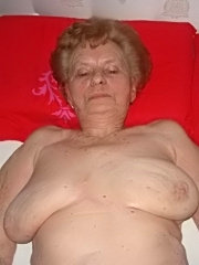 Horny granny with shaved pussy sucks dick and gets assfucked