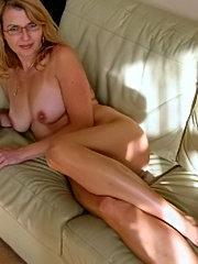 Amateur mature showing her flabby breast
