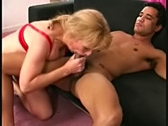 Matured blonde gets it hard from behind