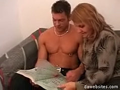 Fat blond mature mom gets spoiled and wasted by a hot young hunk