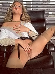 Seventies lady stuffed with the boss his cock
