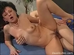 Cum explodes from his dick as this damsel licks his head!