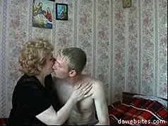 Horny youngster sinks his hard dick deep into mature pussy